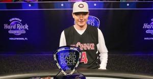 Jacob Bazeley wins rock n roll poker open