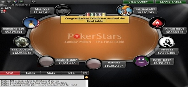 PokerStars Final table