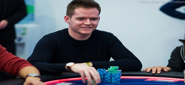 Alex Goulder leading day 3 of EPT#12 main event