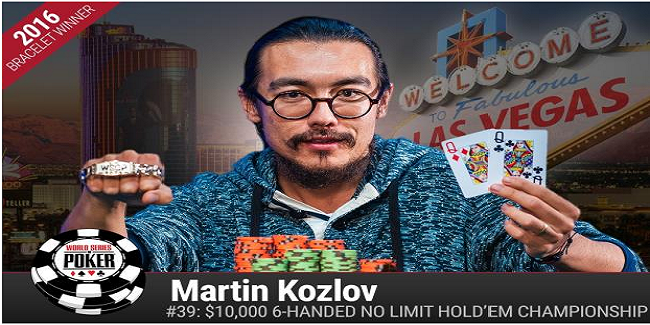Australian Martin Kozlov wins $10K buy in Six handed No Limit