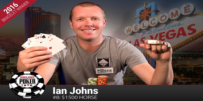 Ian Johns of United States wins Event#8 of WSOP 2016