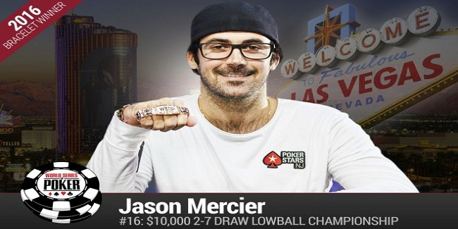 Jason Mercier Wins his fourth Gold bracelet of WSOP for $273,335