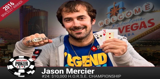 Jason Mercier wins his second gold bracelet at WSOP 2016