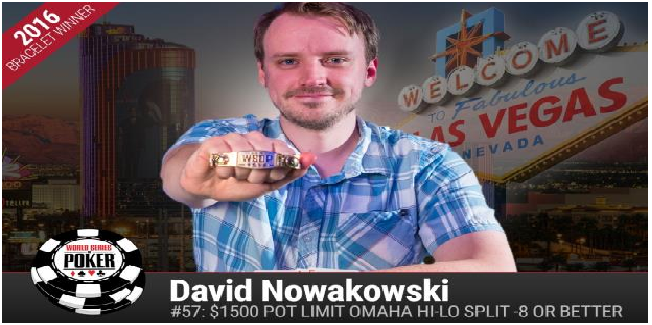 David Nowakowski wins Event#57 or $1,500 buy in Pot Limit Omaha