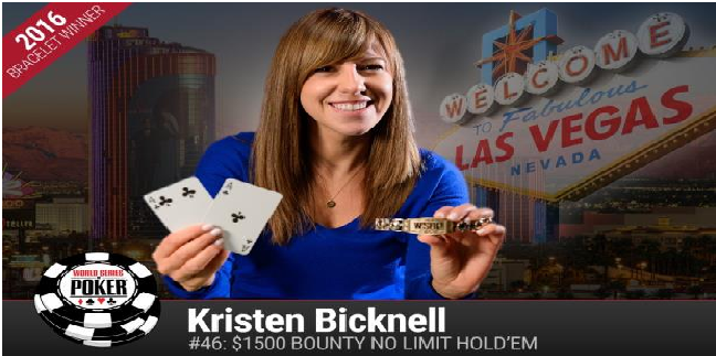 Kristen Bicknell from Canada wins event#46 of WSOP