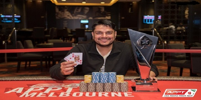 Ashish Gupta wins Asia Pacific Poker Tour for $124,191