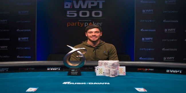 Ben Winsor collects £150,000 for winning WPT500 at Dusk Till Dawn