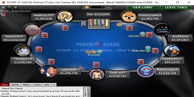 Luismi1912 wins Event#37 of $320 NL Hold'em Turbo of TCOOP 17