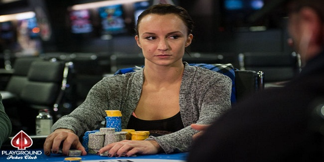 Ema Zajmovic leading WPT Playground final Table