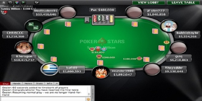 MedStudent91 defeated kofi89 in PokerStars Sunday Million for $152,454