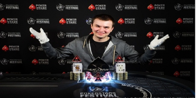 Ukrainian Oleksandr Strokolis wins €550 PokerStars Super Deep tournament