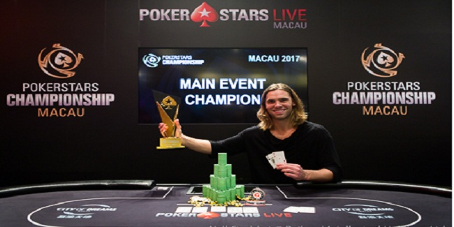 Elliot Smith of Canada wins PokerStars Championship Macau Main Event