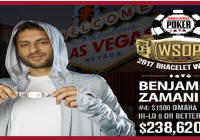 Benjamin Zamani wins Event#4 of 2017 WSOP for $238,620