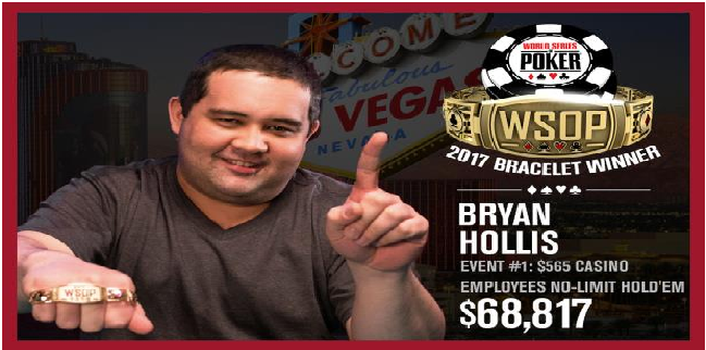 Bryan Hollis wins first bracelet of 2017 WSOP for $68,817
