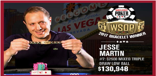 Jesse Martin wins Event#7 of 2017 WSOP for $130K
