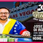 Joseph Di Rosa Rojas of Venezuela wins Event#23 of 2017 WSOP