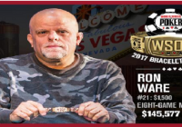 "Ron ""Grumpy"" Ware wins Event#21 of WSOP 2017 for $145,577"