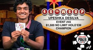 UPESHIKA DE SILVA Wins Event#45 of $1500 No-Limit Hold'em at WSOP