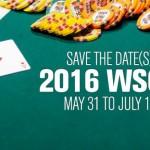 WSOP 2016 Schedule