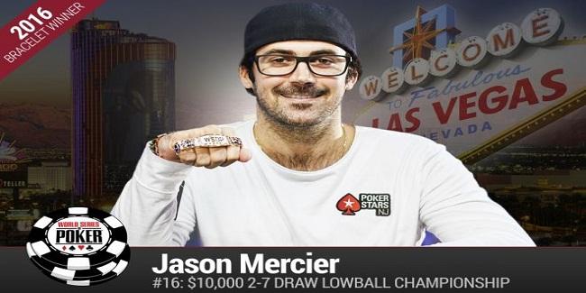 Jason Mercier Wins his fourth Gold bracelet of WSOP for $273,335