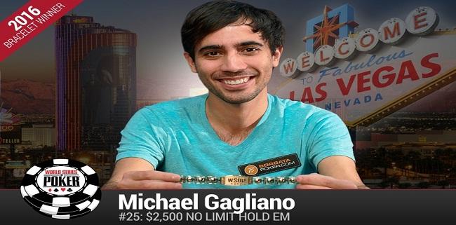 New Yorker Michael Gagliano wins event#25 of WSOP 2016
