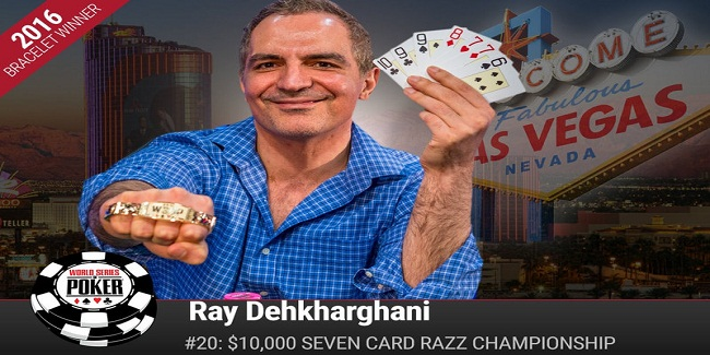 Ray Dehkharghani wins Event#20 or $10K Razz Championship