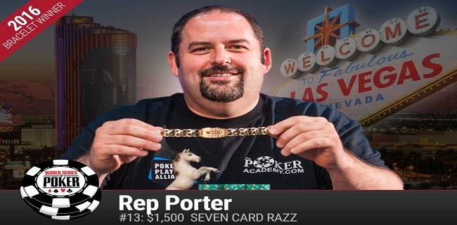 Rep Porter of Seattle wins Event#13 of WSOP collects $142,624
