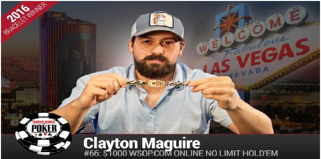 Clayton Maguire Wins Event#66 or NLHE Championship