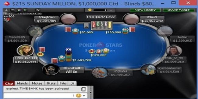 Finland's Sand0-85 wins Sunday Million for over $163K
