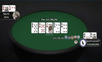 Jeanfranco07 of Uruguay won event#27 for $64,269