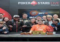 Lau Alan of Hong Kong wins Macau Poker Cup 26 for $3,265,000