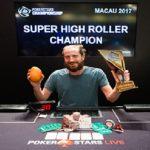 Steve O'Dwyer wins PokerStars Championship Macau Super High Roller