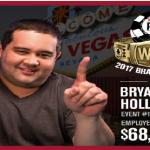 Bryan Hollis wins first bracelet of 2017 WSOP for $68,817