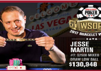 Jesse Martin wins Event#7 of 2017 WSOP for $130K